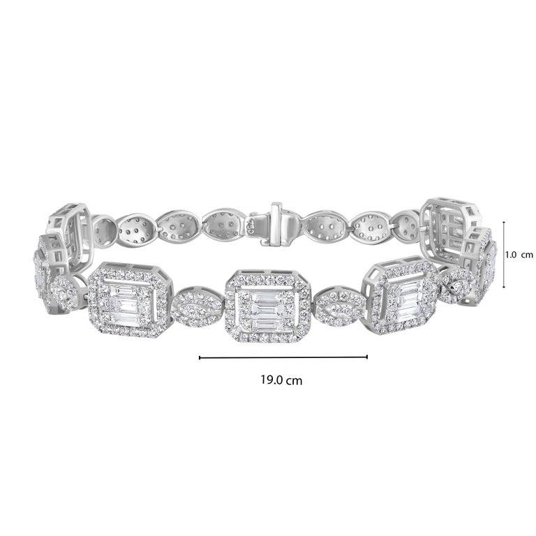 Emilio Jewelry 6.07 Carat Fancy Diamond Bracelet For Sale 8