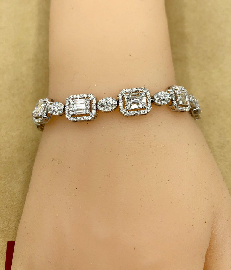 Emilio Jewelry 6.07 Carat Fancy Diamond Bracelet In New Condition For Sale In New York, NY