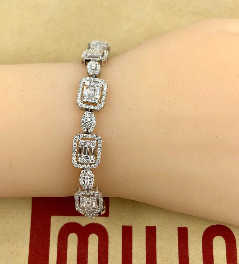 Emilio Jewelry 6.07 Carat Fancy Diamond Bracelet For Sale 1