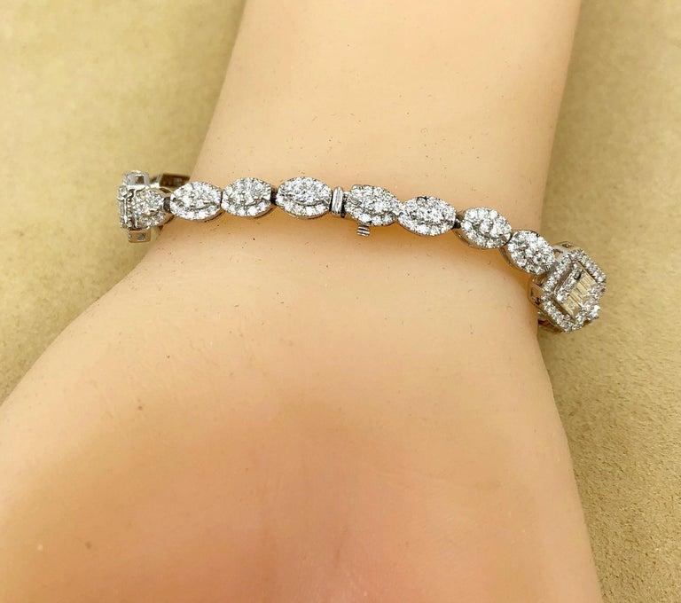 Emilio Jewelry 6.07 Carat Fancy Diamond Bracelet For Sale 2