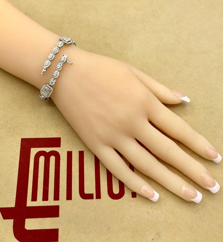 Emilio Jewelry 6.07 Carat Fancy Diamond Bracelet For Sale 3