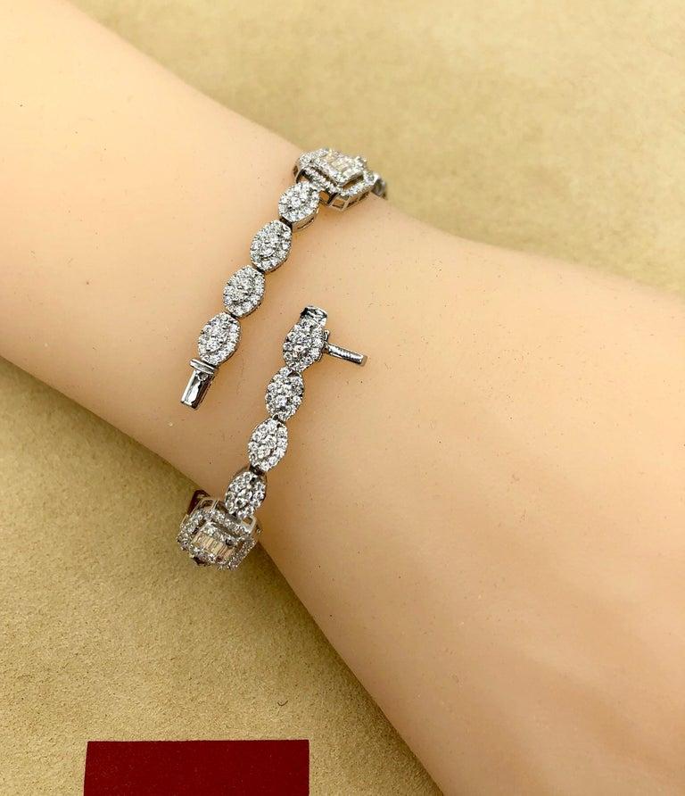 Emilio Jewelry 6.07 Carat Fancy Diamond Bracelet For Sale 4