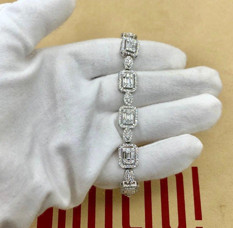 Emilio Jewelry 6.07 Carat Fancy Diamond Bracelet For Sale 5