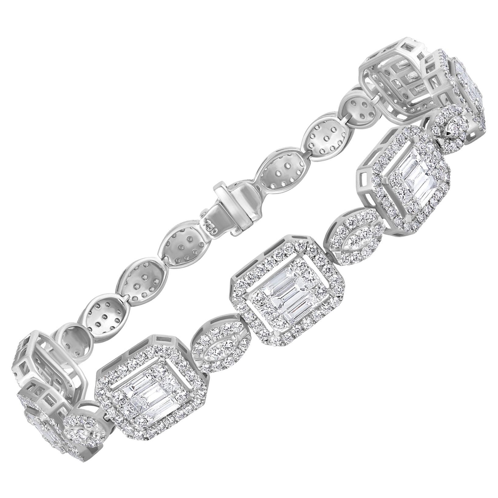 Emilio Jewelry 6.07 Carat Fancy Diamond Bracelet