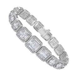 Emilio Jewelry 6.21 Carat Asscher Cut Diamond Illusion Bracelet