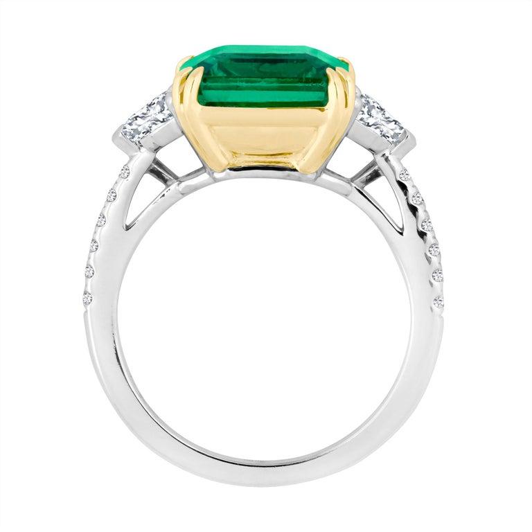 Emilio Jewelry 6 25 Carat Certified Emerald Diamond Ring