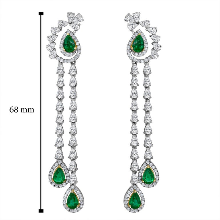 Hand made in the one and only Emilio Jewelry factory! Approximate Diamond Carat Weight: 4.25ct Approx Emerald weight: 2.12ct Color: E-F Clarity: Vs Cut: Excellent For your piece of mind we are a proud Top Selling dealer on 1stdibs with 5 Star