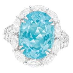 Emilio Jewelry 6.57 Carat Certified Natural Paraiba Ring