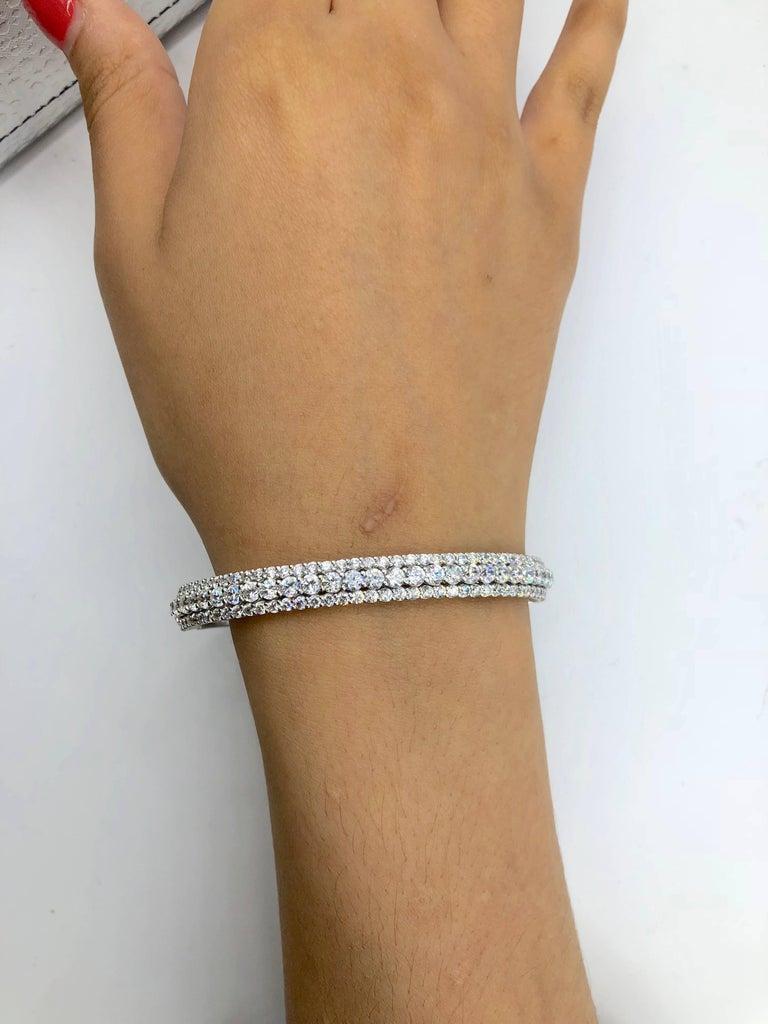 Emilio Jewelry 7.50 Carat Diamond Bangle Bracelet For Sale 1