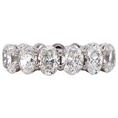 Emilio Jewelry 7.69 Carat Oval Diamond Eternity