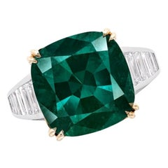 Emilio Jewelry 8 Carat No Oil Unenhanced Certified Emerald Ring