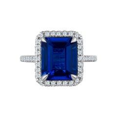 Emilio Jewelry 8.37 Carat Sapphire Diamond Ring