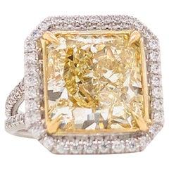 Emilio Jewelry 8.75 Carat Yellow Diamond Ring