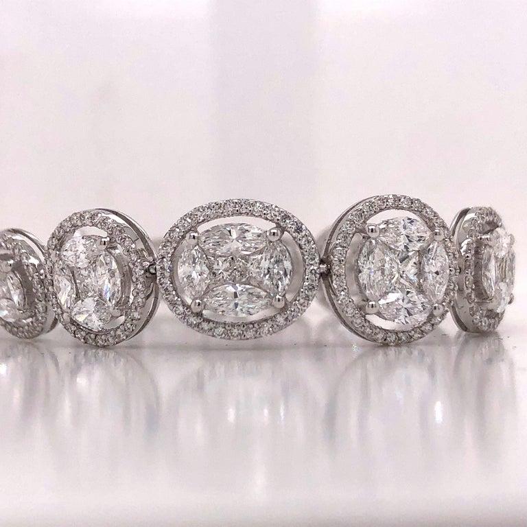 Women's or Men's Emilio Jewelry 9.39 Carat Diamond Bracelet For Sale