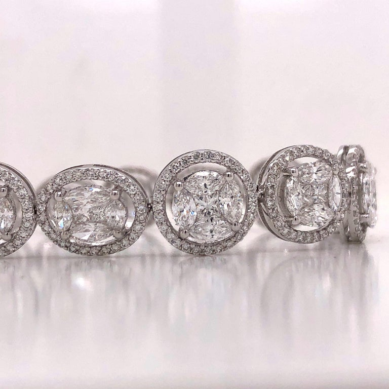 Emilio Jewelry 9.39 Carat Diamond Bracelet For Sale 1