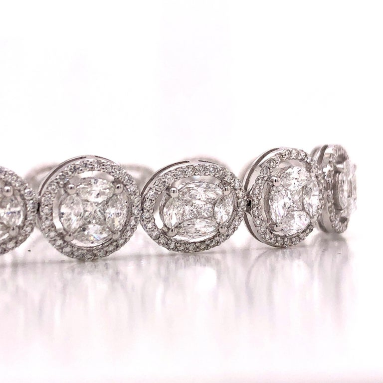 Emilio Jewelry 9.39 Carat Diamond Bracelet For Sale 2