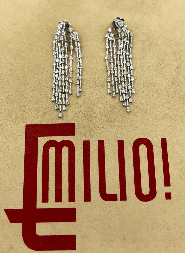 Women's Emilio Jewelry 9.40 Carat Diamond Earrings