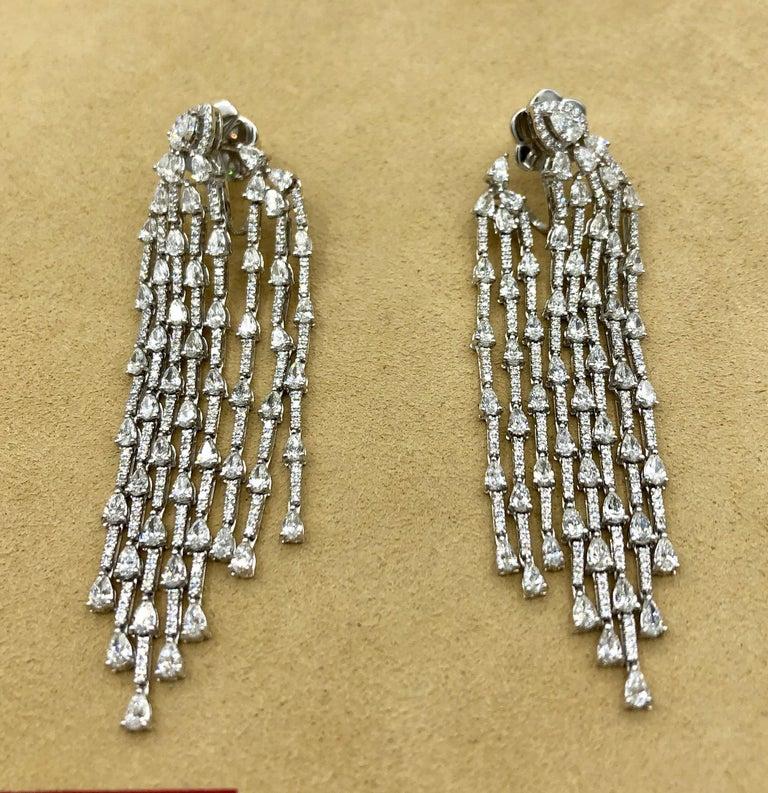 Emilio Jewelry 9.40 Carat Diamond Earrings 1