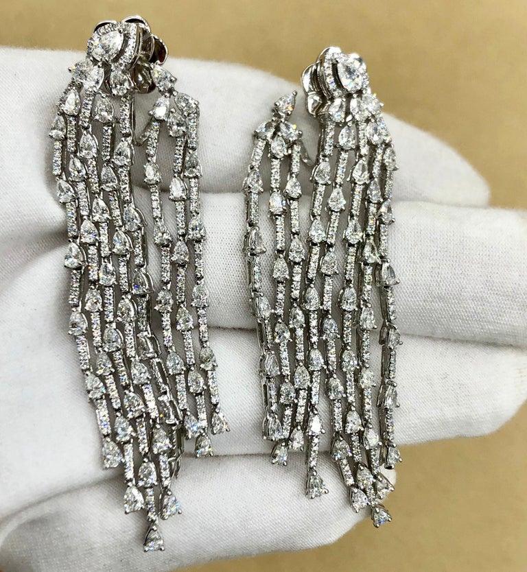Emilio Jewelry 9.40 Carat Diamond Earrings 2