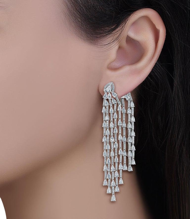 Emilio Jewelry 9.40 Carat Diamond Earrings 5