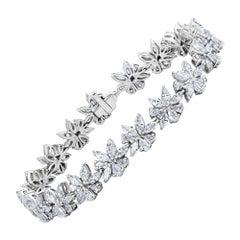 Emilio Jewelry 9.48 Carat Marquise and Pear Shape Diamond Bracelet