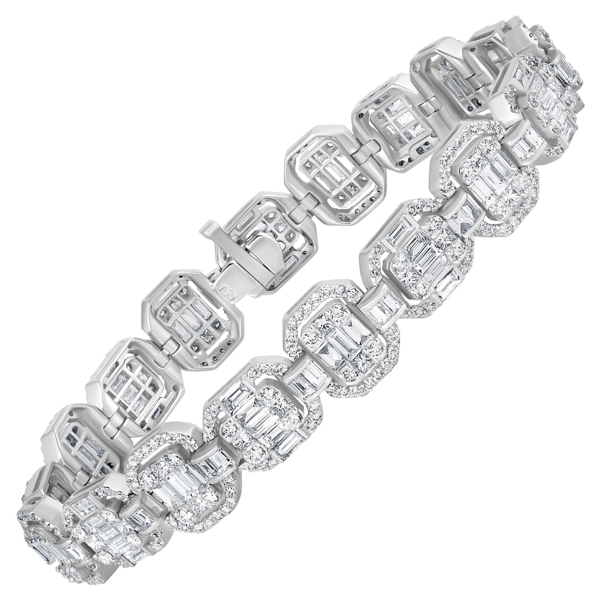 Emilio Jewelry 9.49 Carat Diamond Bracelet