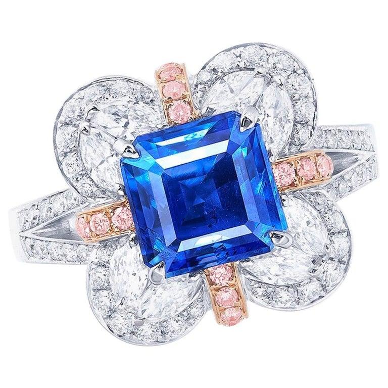 Emilio Jewelry AGL Certified Kashmir Sapphire For Sale