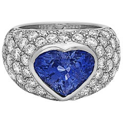 Emilio Jewelry Approximate 10.20 Carat Certified Ceylon Sapphire Diamond Ring