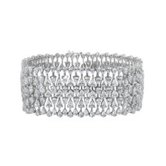 Emilio Jewelry Astonishing 21.23 Carat Diamond Bracelet