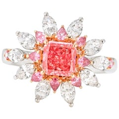 Emilio Jewelry Certified 1.00 Carat Argyle Pink Diamond