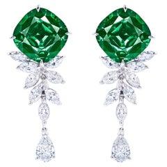 Emilio Jewelry Certified 10.80 Carat Tourmaline Earrings