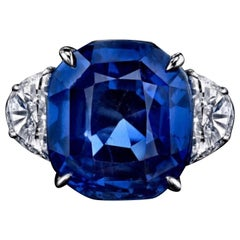 Emilio Jewelry Certified 16.00 Carat Sapphire Ring