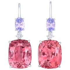 Emilio Jewelry Certified 19.79 Carat No Heat Spinel Earring