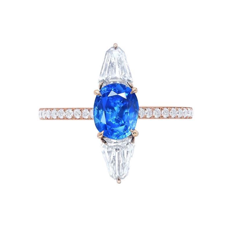 Emilio Jewelry Certified 2.00 Carat Untreated Kashmir Sapphire Ring