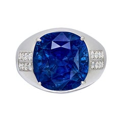 Emilio Jewelry Certified 20.00 Carat Ceylon Sapphire Ring