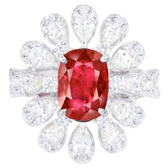 Emilio Jewelry Certified 2.30 Carat No Heat Ruby Ring