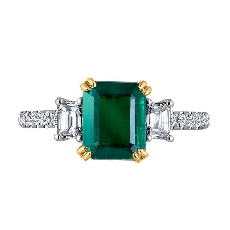 Emilio Jewelry Certified 2 42 Carat Genuine Emerald