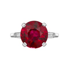 Emilio Jewelry Certified 2.50 Carat Pigeon Blood Ruby Ring