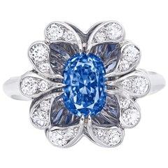 Emilio Jewelry Certified 2.64 Carat Kashmir Sapphire Ring