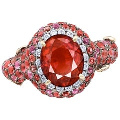 Emilio Jewelry Certified 3.00 Carat No Heat Ruby Ring