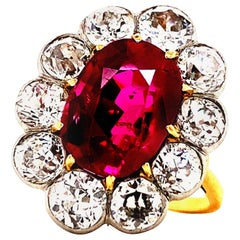 Emilio Jewelry Certified 5.00 Carat Untreated Burmese Ruby Ring