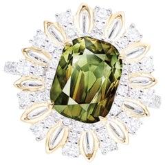 Emilio Jewelry Certified 6.00 Carat Untreated Alexandrite Ring