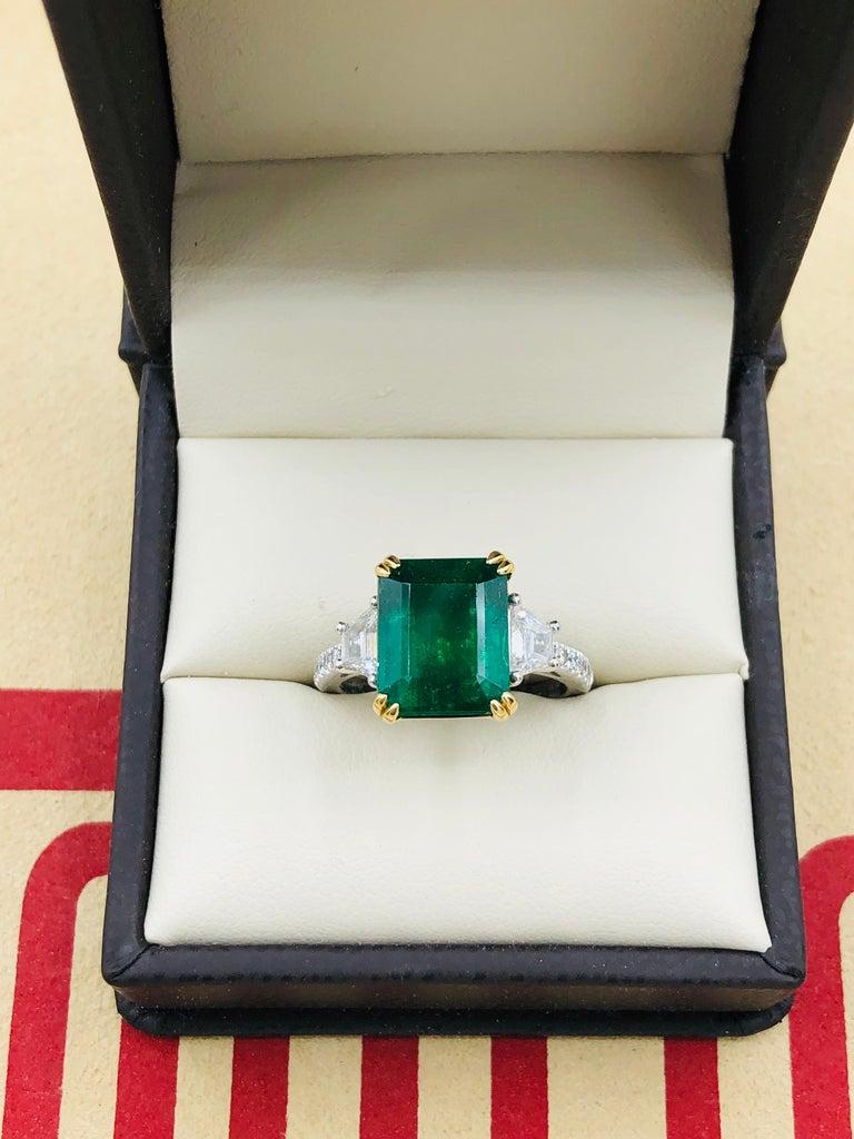 Emilio Jewelry Certified 6 05 Carat Genuine Emerald