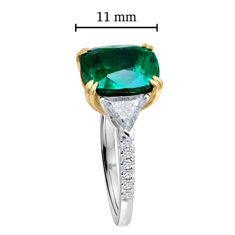 Emilio Jewelry Certified 6 26 Carat Genuine Emerald