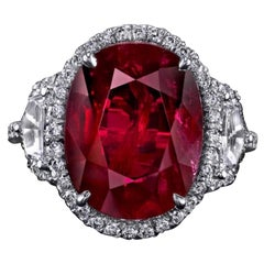 Emilio Jewelry Certified 8.00 Carat Ruby Ring