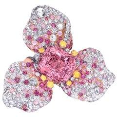 Emilio Jewelry Certified 9.00 Carat No Heat Spinel Ring
