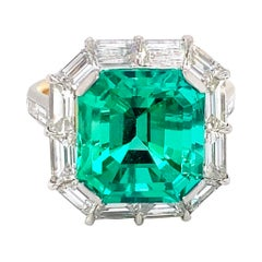 Emilio Jewelry Certified Untreated No Oil Colombian Emerald Ring