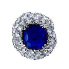 Emilio Jewelry Crown Jewel the Kashmir Dream 11.39 Carat Certified Kashmir Ring