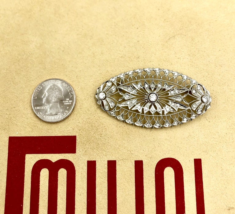 Emilio Jewelry Diamond Brooch For Sale 8