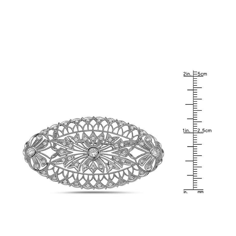 Modern Emilio Jewelry Diamond Brooch For Sale